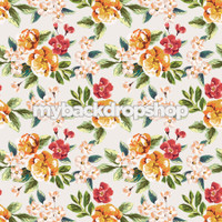 Peach Tropical Flower Photography Backdrop - Item 3088