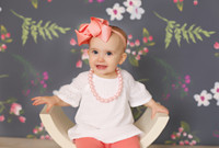 Navy Floral Photography Backdropm - Item 3095