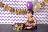 Purple Glitter Chevron Photography Backdrop - Item 2164