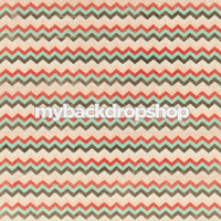 Distressed Pastel Pink and Teal Chevron Photography Backdrop - Item 3136