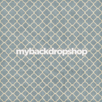 Blue Linen Tile Photography Backdrop - Distressed Quatrefoil Photo Prop - Item 3150