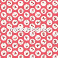 Hot Pink and White Flower Backdrop - Pink and White Dot Prop for Photos - Item 3160