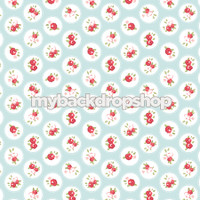 Baby Blue and White Flower Backdrop - Blue and White Dot Prop for Photos - Item 3163