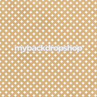 White and Beige Polka Dot Diamond Photo Prop - Tan Patterned Photography Backdrop - Item 3213