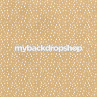 Neutral Star Patterned Photography Backdrop - Beige Star Photo Prop - Item 3217