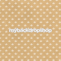 Neutral Crown Patterned Photography Backdrop - Beige Photo Prop - Item 3219
