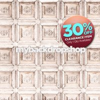 CLEARANCE - VINYL - 5ft x 6ft Shabby White Ornate Old Carved Wood Wall Photography Backdrop - Exclusive Design - Item 1881
