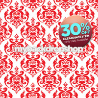 CLEARANCE - VINYL - 5ft x 5ft Red Damask Backdrop - Exclusive Design - Item 1663