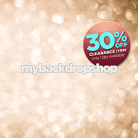 CLEARANCE - VINYL - 4ft x 7ft Champagne Bokeh Photography Backdrop - Glitter Photo Background for Studio Portraits - Item 1036