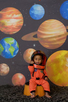Back to School Solar System Photography Backdrop - Item 5005