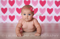 Valentines Day Heart Print Backdrop - Item 104