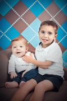 Blue and Brown Plaid Backdrop - Item 110