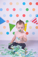 Fun Polka Dot Photography Backdrop - Item 123