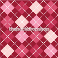 Pink Photo  Backdrop - Argyle Pattern Background for Photo Sessions - Item 143