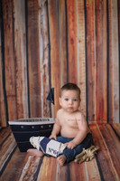 Distressed Brown Wood Backdrop for Photographers - Portable Wood Floordrop  - Item 187