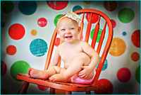 Colorful Polka Dots Backdrop - Birthday or Childrens Photo Shoot  - Item 190