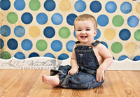 Blue Green and Yellow  Photo Background - Boys Portrait Photography Backdrop - Item 236
