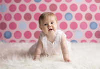 Pink and Blue  Photo Background - Girls Portrait Photography Backdrop - Item 237