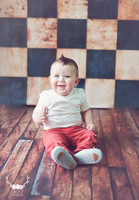 Vintage Black and White Tile Photo Backdrop - Checkerboard Pattern Floor Drop or Backdrop - Checkerboard Pattern Floor Drop or Backdrop - Vintage Photo Prop - Item 249