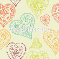 Multicolor Heart Design Backdrop - Item 297