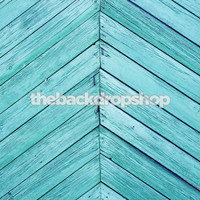 Blue Wood Siding Floor Drop - Item 358