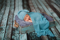 Grunge Blue and Black Weathered Wood Plank Backdrop for Photos - Item 368
