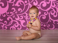 Pink Scroll Photography backdrop for Teens - Item 389