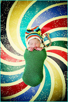 Rainbow Swirl Floor for Portrait Photography - Cool Photo Backdrop for Studio Pictures - Item 442