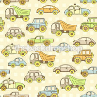 Car and Dumptruck Theme Backdrop for Young Boys - Item 477