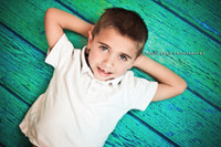 Turquoise Wood Flooring Backdrop for Photography - Fake Wood Floor for Photo Shoots - Item 521