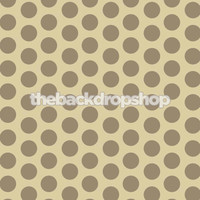 Brown and Tan Polka Dot Photography Backdrop - Item 561
