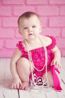 Bubblegum Pink Brick Wall for Kids Photography Shoots - Item 586