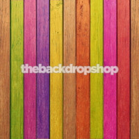 Multicolor Painted Wood Backdrop for Photography - Photographers Background - Fun Kids Portrait Prop - Item 602