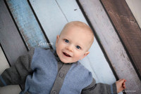 Reusable Wood Floor Mat for Photo shoots - Blue Rustic Wood Wall Backdrop for Pictures - Item 642