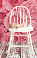 Cheapest Photo Background for Photographers - Pink Rose Photography Backdrop for Newborn Girls - Item 653