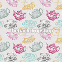 Tea Party Themed Photoshoot Backdrop - Item 693