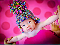 Pink Dot Wallpaper Background for Baby Photo Sessions - Cheap  Photography Backdrop - Item 698
