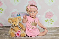 Fancy Pink Rose Wallpaper Photo Prop for  Newborn Girls - Item 725