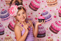 Birthday Cupcake Themed Photography Background  - Item 746