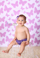 Lilac Butterfly Photo Studio Backdrop For Children - Item 751