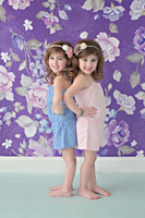 Purple Floral Wallpaper Backdrop - Item 777