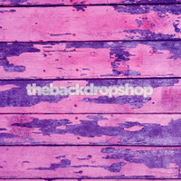 Peeling Paint Wood Floor Mat for Photos - Purple and Pink Wood Flooring for Kids Photoshoots - Item 785