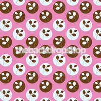 Modern Dot and Flower Wallpaper Backdrop for Photos- Newborn or Childrens Photography Prop -  Background - Item 833