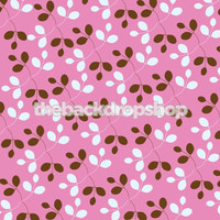 Modern Photography Back Drop for Newborn Photography - Pink White and Brown Floral  Backdrop - Item 834