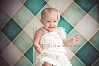 Teal Gingham Printed Photography Backdrop  - Item 847