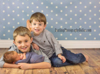 Blue and White Polka Dot Photography Backdrop - Blue Photography Prop - Item 868