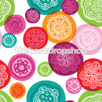 Colorful Dot Backdrop for Photo Shoots - Childrens Photography Backdrop - Item 889