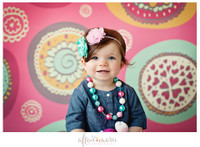 Pink Photography Backdrop - Retro Dots Photo Backdrop for Kids or Teens Pictures - Item 899