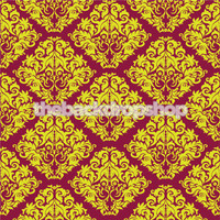 Purple and Yellow Damask Wallpaper Photography Backdrop -  Photo Background for Photography Studios - Item 910