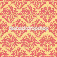 Yellow and Pink Damask Wallpaper Backdrop  - Item 916